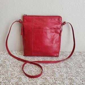 HOBO International Red Leather Crossbody Bag